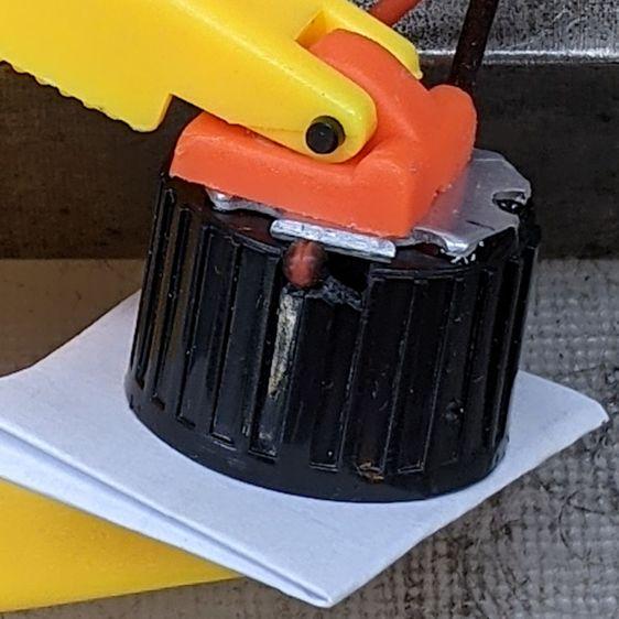 1 W LED Holder - wire passage