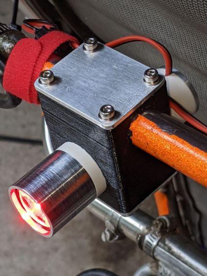 Tour Easy Rear Running Light - installed